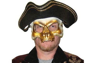 Halbschuhe Totenkopf Halb Maske Hut Karibik Geist Kostüm - Hut Pirat Kostüme Maske