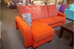 -50% DEMO SPANISH SOFA-BED WITH A CHAISE LOUNGE AND A STORAGE