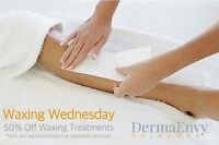 DermaEnvy 50% off Waxing special each Wednesday