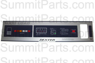 T600 Nameplate Front Label For Dexter Washer - 9412-076-006