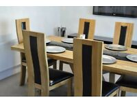 Dining table real oak 6 seats modern