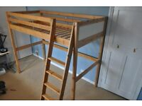 Ikea Vradal Loft Bed - solid wood
