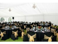 Black table linen hire Wedding Napkin Hire charger plate hire Decor Packages London £4pp Catering