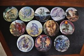12 Collectible Denbury Mint, Dragons of Enchantica Plates (by John J Woodward)