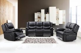 EXCLUSIVE LEATHER RECLINER ONLY £499 RRP £1209
