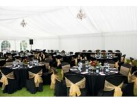 Rent Black Chair Covers 79p Christmas Throne Hire Santa Claus £199 Top Table flower Hire£35 Cylinder