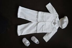 BABY BOY 7 PIECE FORMAL OUTFIT (0 - 3 months) CHRISTENING