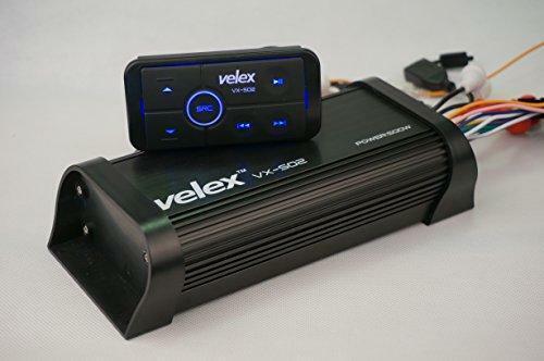 Waterproof Bluetooth 4-Channel Class A/B Boat ATV Car Amplifier Media Stereo