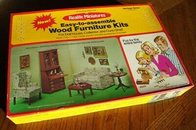 Realife Miniatures Living Room and Bedroom Furniture Kits