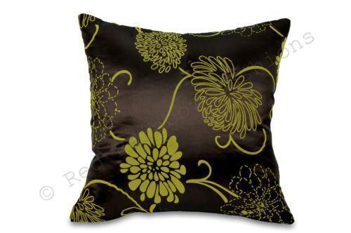 brown lime green cushions ebay. Black Bedroom Furniture Sets. Home Design Ideas