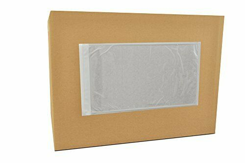"1000 Packing List Envelopes Plain Face 5.5"" x 10"" Back Side Load"