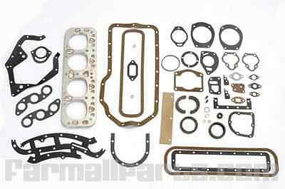 Complete Overhaul Gasket Set With Seals For Farmall M W Mta Super Mta 400.