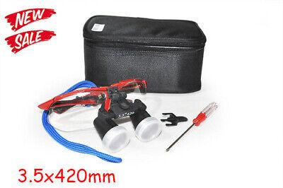 Dental Surgical Medical Binocular Loupes 3.5x 420mm Optical Glass Magnifier