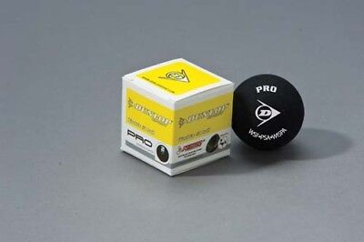 Dunlop Pro Squash Ball Match Quality Training Practice Balls Black Pack Of 12