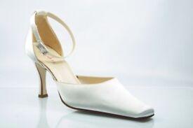 Bridal Shoes Ivory Satin by Rainbow Club - Anouska Design