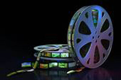 500 Feet of 8mm Super 8 or 16mm MOVIE FILM TRANSFER COPY TO DVD
