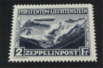 nystamps Liechtenstein Stamp # C8 Mint OG H $140   L23y636