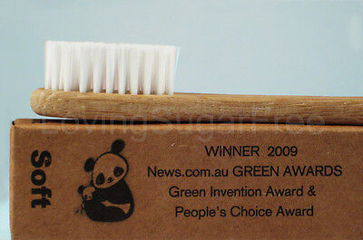 The Environmental Bamboo Toothbrush * Adult Soft * ECO FRIENDLY *  Fast Ship