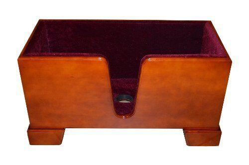 Vio Music Upright Double Bass Wooden Stand Burgundy Velvet Plush Cushions