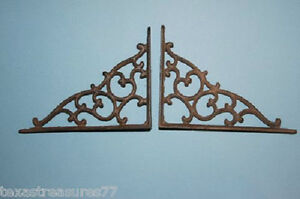 (6) Cast Iron Shelf Brackets, Corbels, DIY, Western Decor, Office, Books