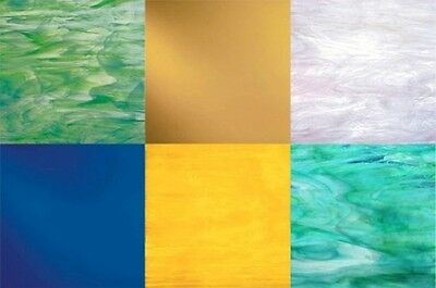 Stained Glass Variety Pack - (6) Sheets 8x10 - Random Colors