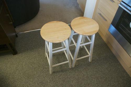 Wooden Kitchen Stools Ebay