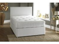 🔵💖🔴SALE PRICE 🔵💖🔴BRAND NEW DOUBLE/KING SIZE DIVAN BED BASE WITH FULL ORTHOPEDIC MATTRESS