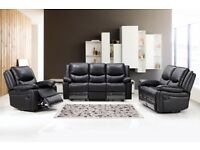 MONDO LEATHER RECLINER, 3+2 ONLY £549, FAST DELIVERY