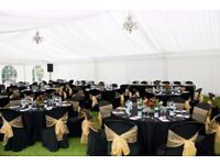 Wedding Marquee Hire London Glass Beaded Charger Plates Hire £2 Cylinder Vase Hire Table Decor £5