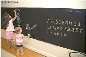 New 60×200cm Childrens Blackboard Decal Vinyl Removable Wall Sticker Chalk Board