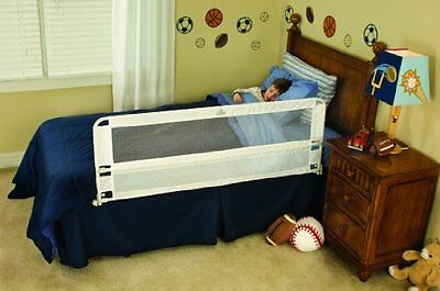 Regalo Hide Away Extra Long Bed Rail, White -- New
