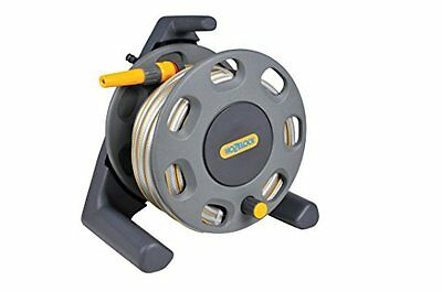 Hozelock Floor Standing Compact Reel with 20 m Hose with Connectors - Colour May