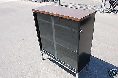 Glass-display-cabinet-wall-1970s-office-show Lab Case Bookcase Industrial