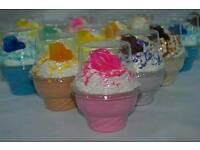 Hand made ice cream sundea bath bombs x2