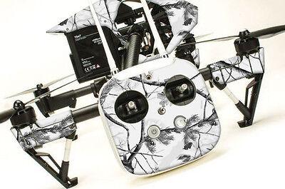 DJI Inspire 1 Quadcopter/Drone, Transmitter, Battery Wrap/Skin   Alpine Camo