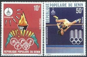Benin 1979 Mi 189-90 ** Olympiade Olympics Olimpiada Moscow Ringe Sport -  Dabrowa, Polska - Benin 1979 Mi 189-90 ** Olympiade Olympics Olimpiada Moscow Ringe Sport -  Dabrowa, Polska