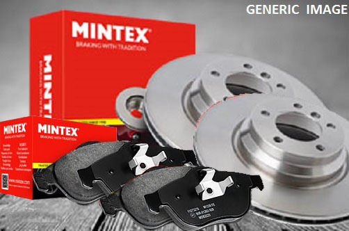 NEW MINTEX FRONT BRAKE DISC AND PAD SET (BRAKE BOX)   - MDK0225