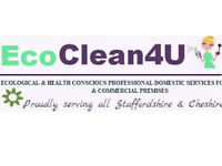 ECOCLEAN4U - PROFESSIONAL HOME CLEANERS. 35 + years experience. Stoke & Newcastle areas.