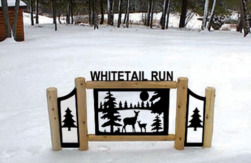 PERSONALIZED WHITETAIL DEER SIGN - CLINGERMANS OUTDOOR SIGNS-WILDLIFE ART