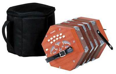 Hohner D40 Concertina Key G-C Diatonica Accordion with Padded Gig Bag