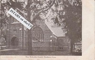 C  1910 Simsbury  Ct  New Methodist Church Postcard