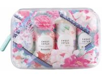 Brand new Accessorize Sweet Lotus wash bag- Travel set