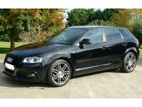 AUDI A3 2.0 TDI QUATTRO BLACK EDITION S LINE 170BHP LEATHER BOSE AUX BLINDS 4X4 4WD VW SEAT SKODA RS