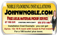 NobleFlooringInstallations Call us at 519-273-4487 Free Estimate