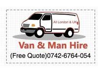 MAN & VAN HOUSE OFFICE REMOVAL PIANO MOVER/ MOVING LUTON DELIVERY COLLECTION TRUCK RUBBISH CLEARANCE