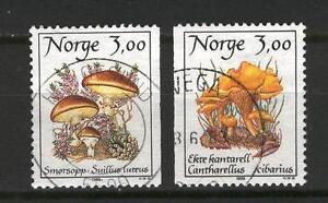 Norway P55 used 1989 Mushrooms chanterelles 2v