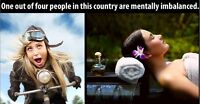 ONE OUT OF FOUR PEOPLE IN THIS COUNTRY ARE MENTALLY IMBALANCED