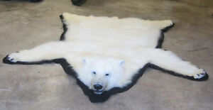 Polar bear rug - All permits available. Great condition. $5000