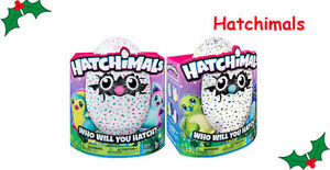 2 Hatchimals - Pink and Blue-Green