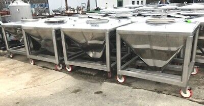 200 Gallon 800 Liter 26 Cuft. Sanitary Stainless Steel Portable Tote Tanks